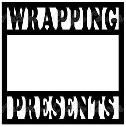 Wrapping Presents - Scrapbook Page Overlay Die Cut - Choose a Color