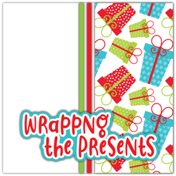 Wrapping the Presents - Printed Premade Scrapbook Page 12x12 Layout