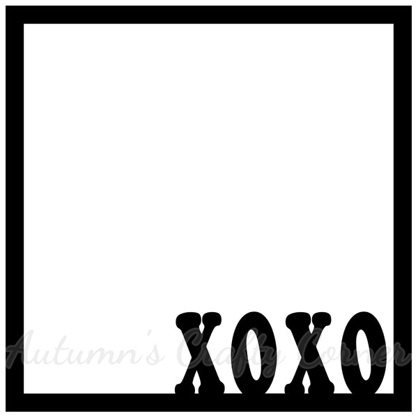 XOXO - Scrapbook Page Overlay Die Cut - Choose a Color