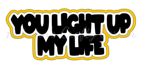 You Light Up My Life - Deluxe Scrapbook Page Title