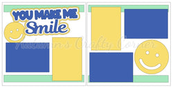 You Make Me Smile  - Boy- Scrapbook Page Kit