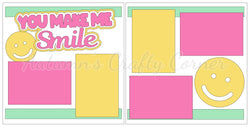 You Make Me Smile  - Girl - Scrapbook Page Kit