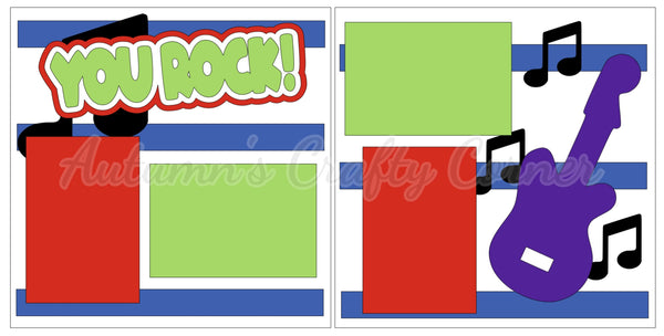 You Rock! - Scrapbook Page Kit