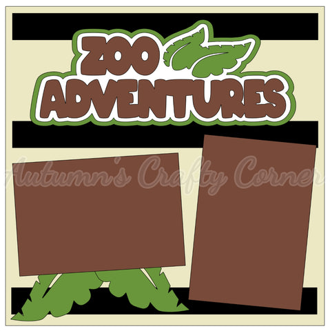 Zoo Adventures - Single Scrapbook Page Kit