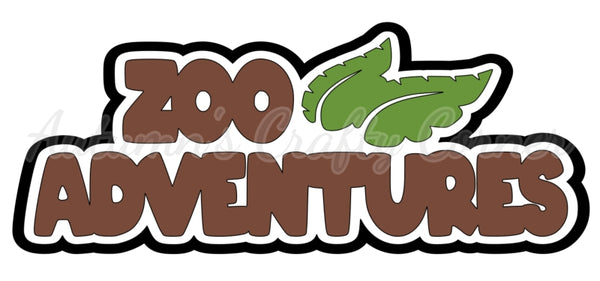 Zoo Adventures - Deluxe Scrapbook Page Title