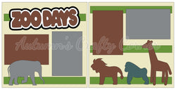 Zoo Days - Scrapbook Page Kit