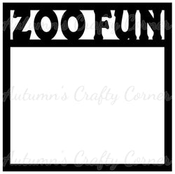 Zoo Fun - Scrapbook Page Overlay Die Cut - Choose a Color