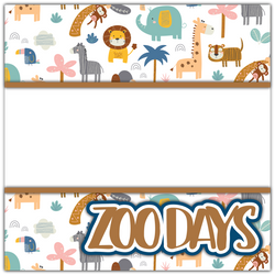 Zoo Days - Printed Premade Scrapbook Page 12x12 Layout