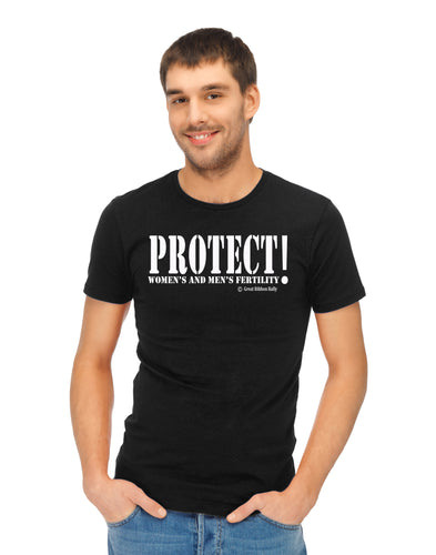 Army Style Protect Men's and Women's Fertility White Graphic