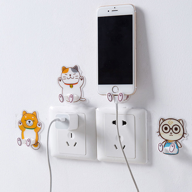 Cute Cartoon Animal Hook (4 pieces)
