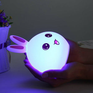 Cute Silicone Rabbit Night Lamp