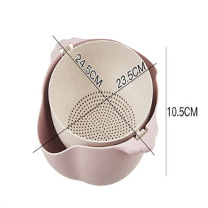 2-in-1 Kitchen Strainer and Bowl Set