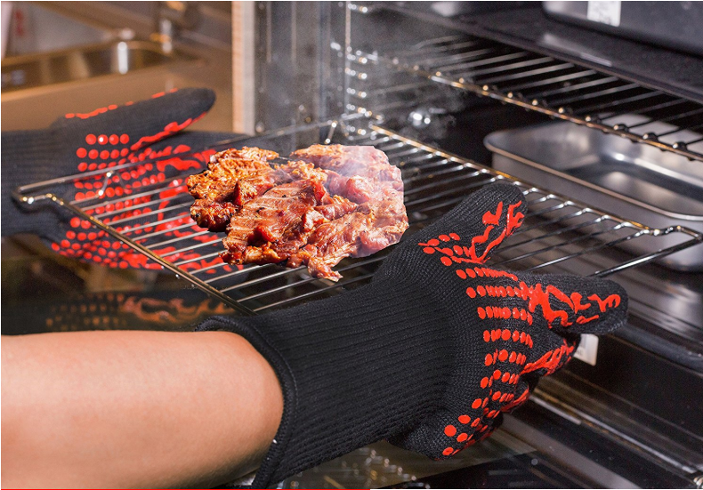 932℉(500℃) Extreme Heat Resistant BBQ Fireproof Gloves (1 Pair)