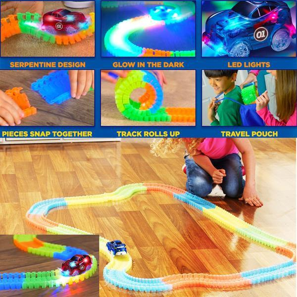 Super Fun Glowing Race Track Set for Kids