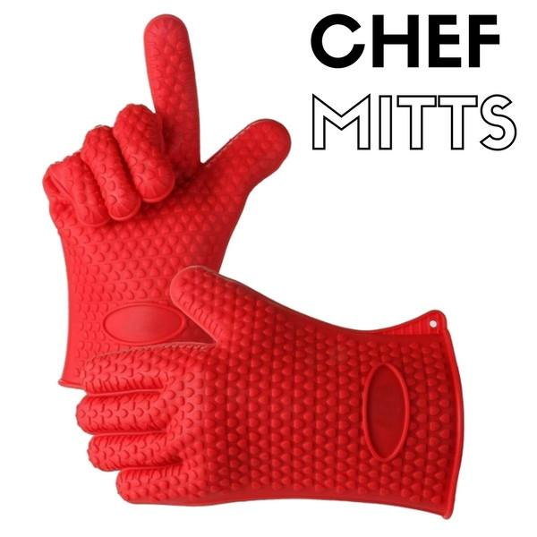 Chef Mitts™ - Heat Resistant Cooking Gloves
