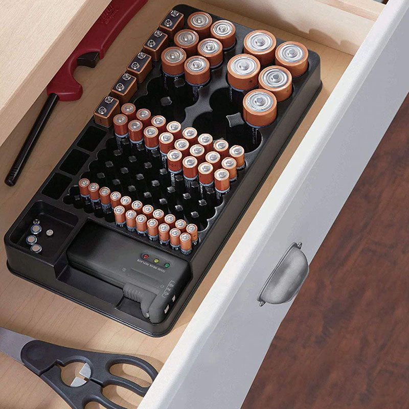 Battery Organizer with Energy Tester
