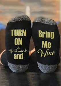 Inspire Uplift Style 5 Leave Me Alone I Am Watching Hallmark Movies Socks