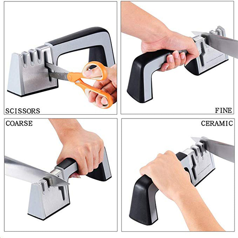 Creative 4 in 1 Knife Sharpener