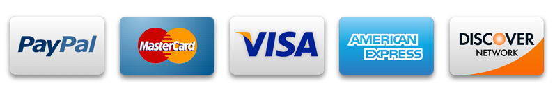 We Accept PayPal, VISA and MasterCard.