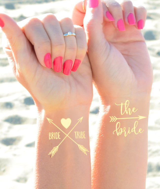 Bride & Bride Tribe Flash Tattoos (12pc)