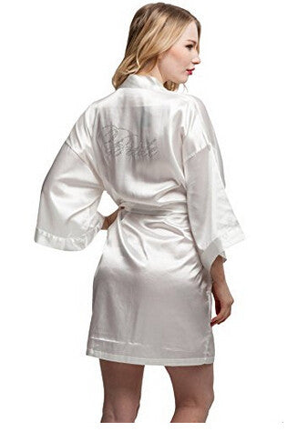 Bride Faux Silk Ivory  Robe