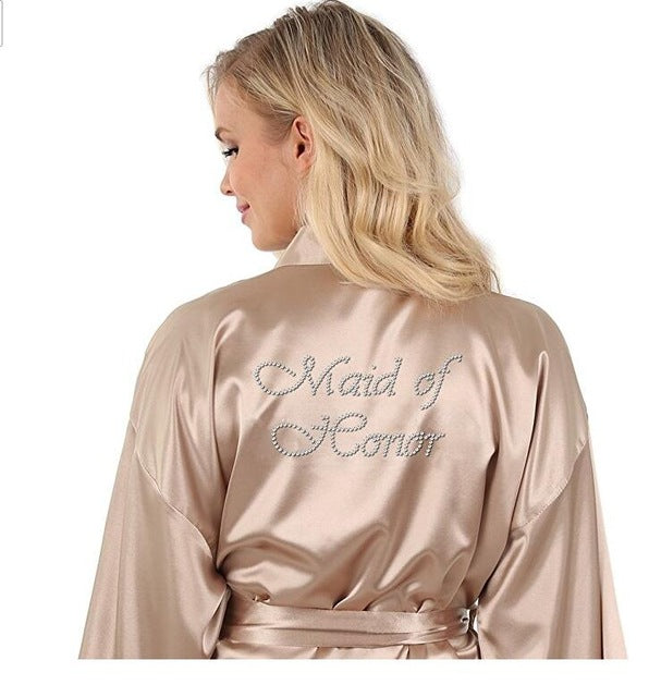 Bridesmaid & Maid Of Honor Champagne Robes