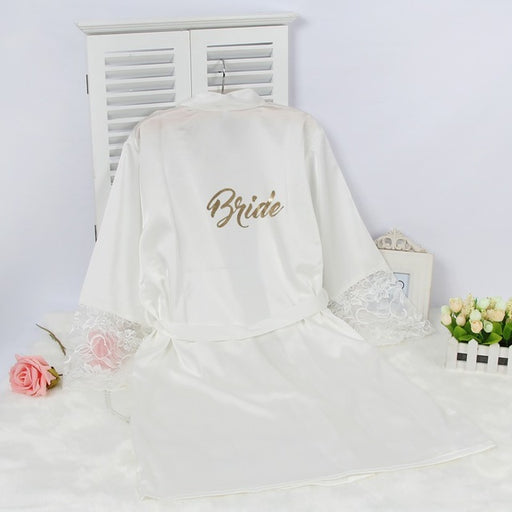 Bride Lace White Robe