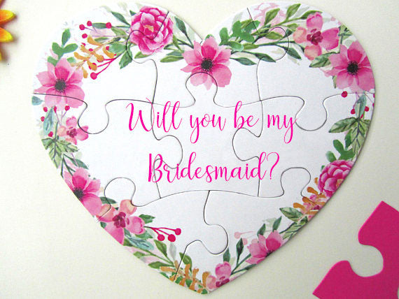 Bridesmaid Proposal Puzzle