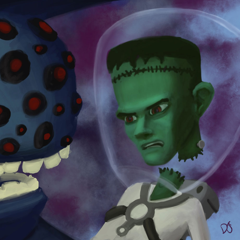 That Time That Space Frankenstein Fought The Eye Monster But Then They Became Buddies