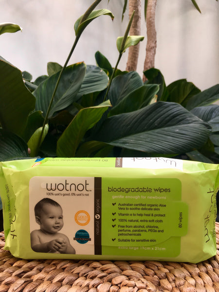 Biodegradable Natural Baby Wipes 80pk