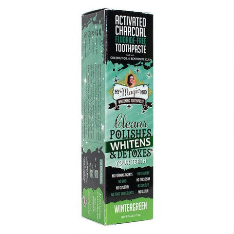 Activated Charcoal Toothpaste- Wintergreen