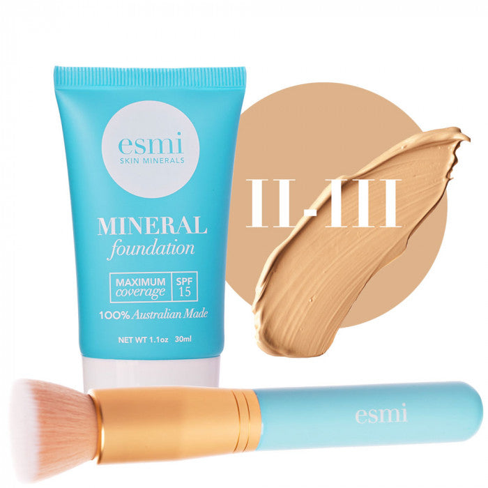 Liquid Foundation and Brush Bundle Skin Type II-III