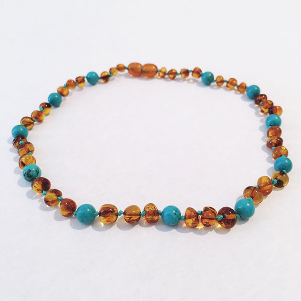 Amber Love Child Necklace- Ocean Love