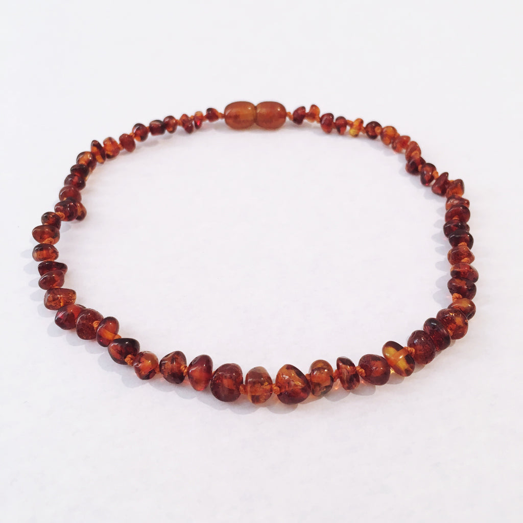 Amber Love Child Necklace- Cognac Love