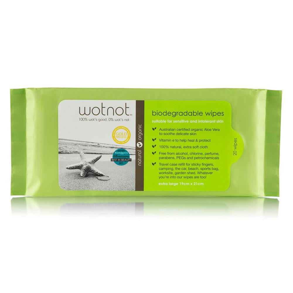 Biodegradable Natural Baby Wipes 20pk