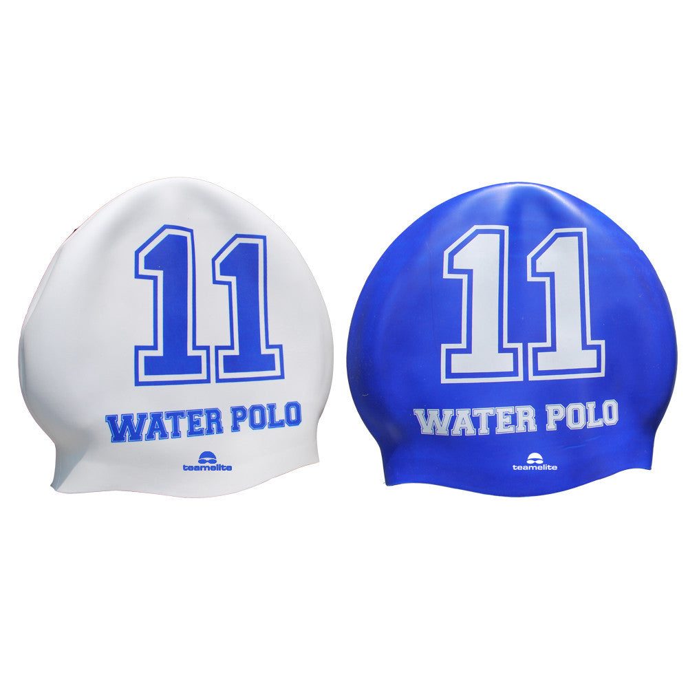 Team Elite Reversible Water Polo Silicone Swim Cap - Number 11