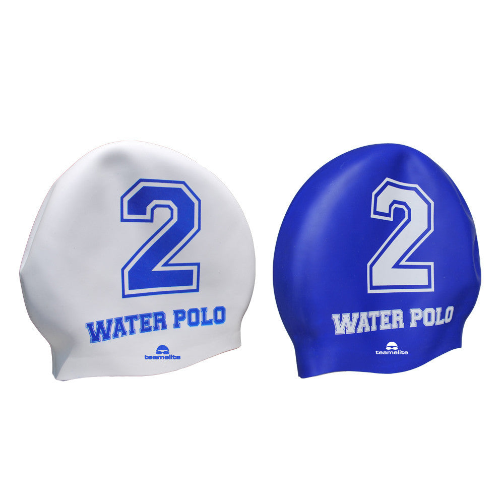 Team Elite Reversible Water Polo Silicone Swim Cap - Number 2