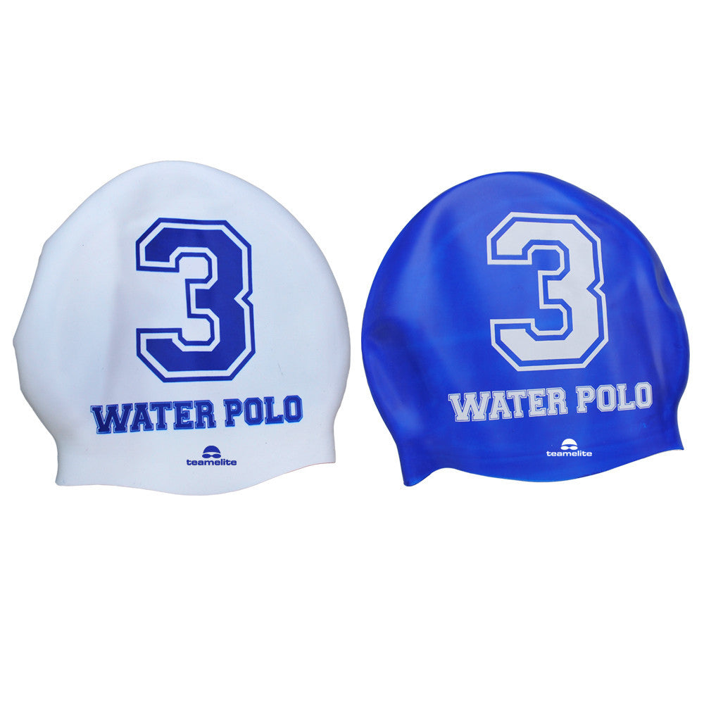 Team Elite Reversible Water Polo Silicone Swim Cap - Number 3