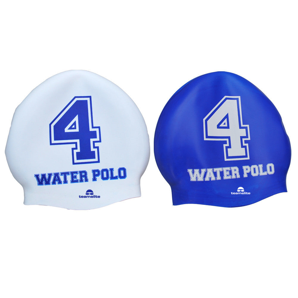 Team Elite Reversible Water Polo Silicone Swim Cap - Number 4