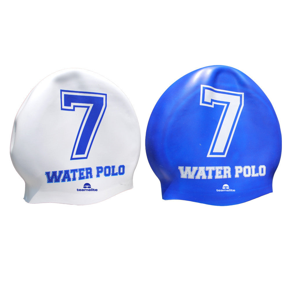 Team Elite Reversible Water Polo Silicone Swim Cap - Number 7