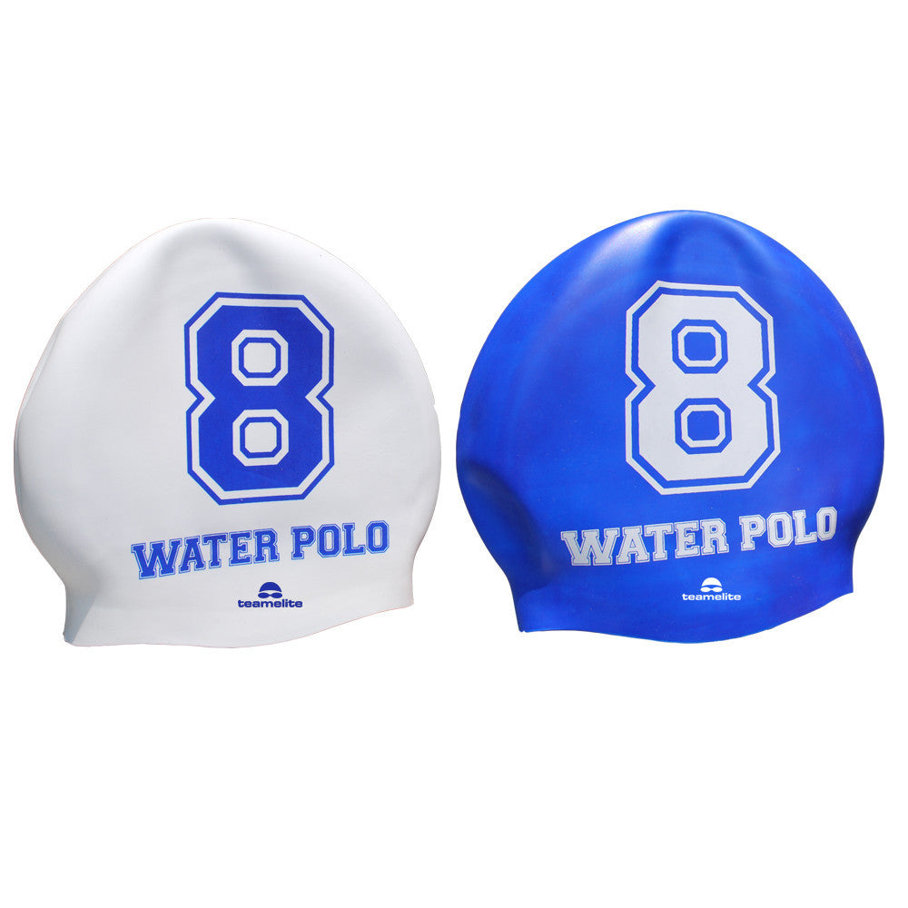 Team Elite Reversible Water Polo Silicone Swim Cap - Number 8