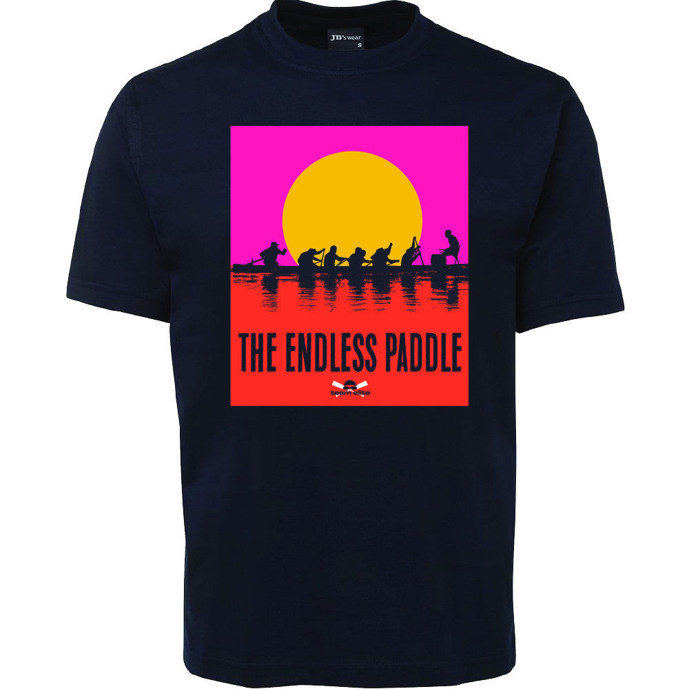 Team Elite Black Unisex 'Endless Paddle' T-Shirt
