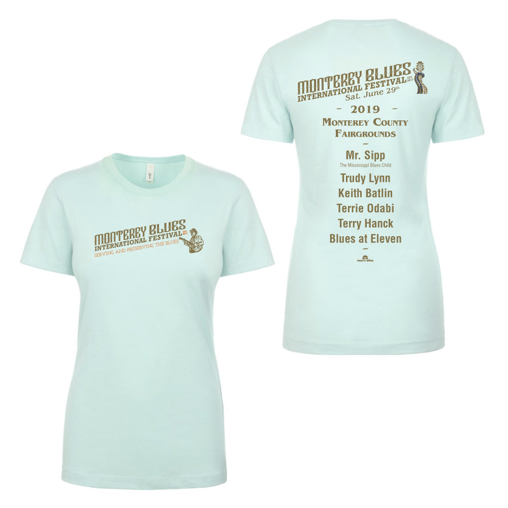 2019 Monterey International Blues Festival Ladies Mint T