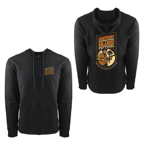 Monterey International Blues Festival Black Heavyweight Hoodie Jacket