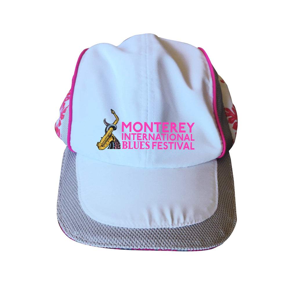 Monterey International Blues Festival Pink Hibiscus Baseball Cap
