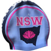NEW SOUTH WALES BLUE & PINK Seamless Silicone Swim Cap