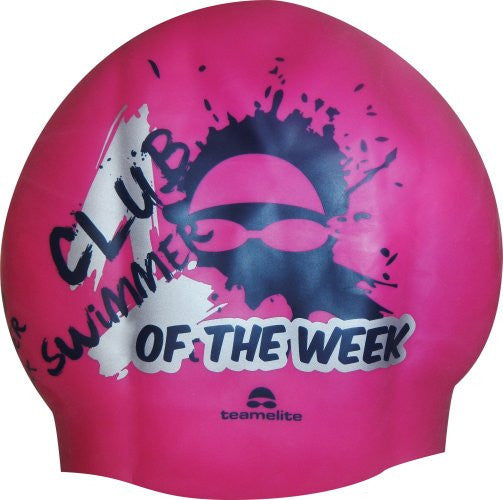 Club Swimmer of the Week Hot Pink Seamless Silicone Swim Cap