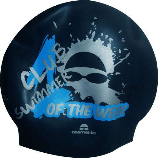 Club Swimmer of the Week Navy Seamless Silicone Swim Cap