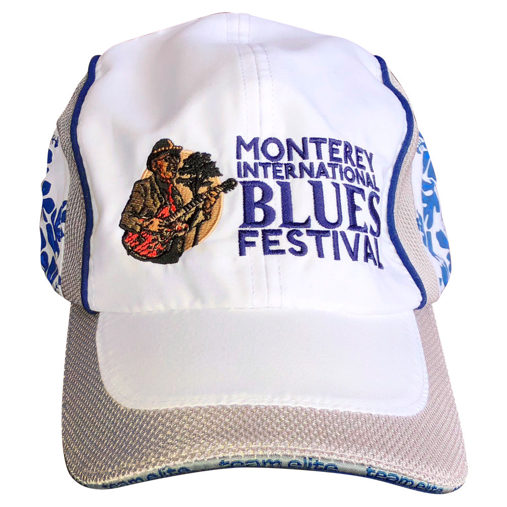 Monterey International Blues Festival Blue Hibiscus Baseball Cap