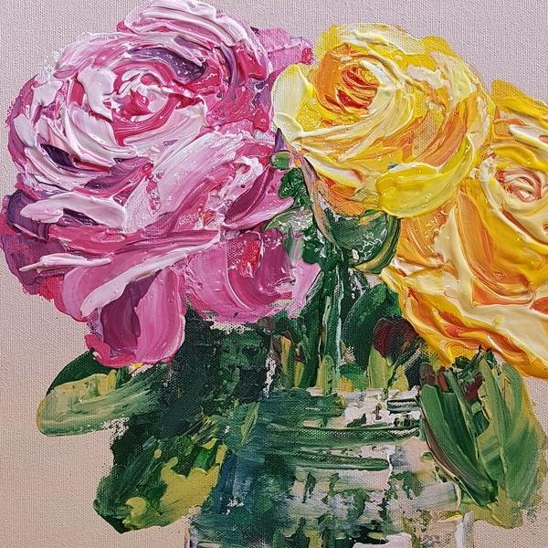 Charlotte Giblin | Acrylic Painting Flowers